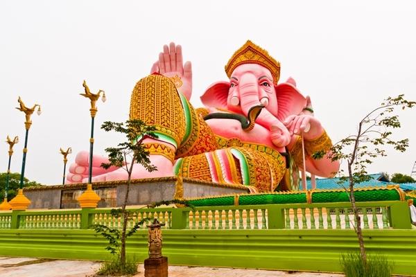 """ผลการค้นหารูปภาพสำหรับ พระพิฆเนศ"""" ที่ใหญ่ที่สุดในไทย นครนายก"""""""