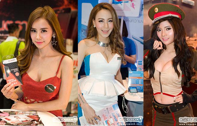 งานดี ! พริตตี้สุดเซ็กซี่ที่งาน Thailand Mobile Expo 2016