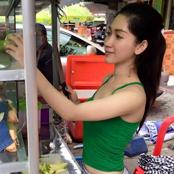 ขอตำแซ่บๆ!! แม่ค้าส้มตำสวยที่เขมร ไม่แพ้สาวไทยเลย
